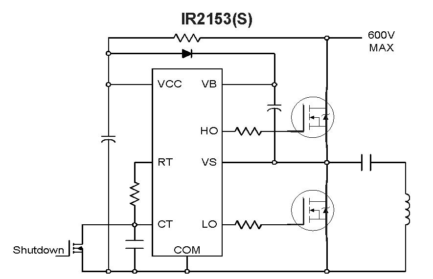 из этой схемы IR2153,
