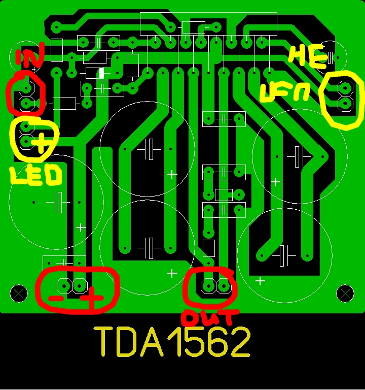 Технический форум - Показать сообщение отдельно - Печатная плата для TDA1562Q.