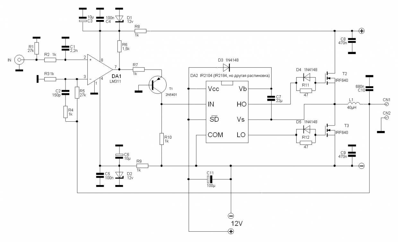 Схема простого усилителя g класс 13 фотография
