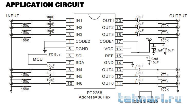 Микросхема PT 2258 DIP-20
