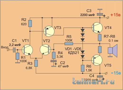 Самодельный унч на транзисторах 57