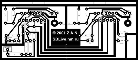 Супер усилитель на TDA7294 (печатка - печатная схема) в машине и не...