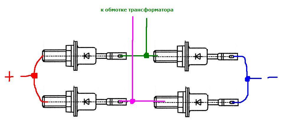 схема диодного моста для мотоцикла