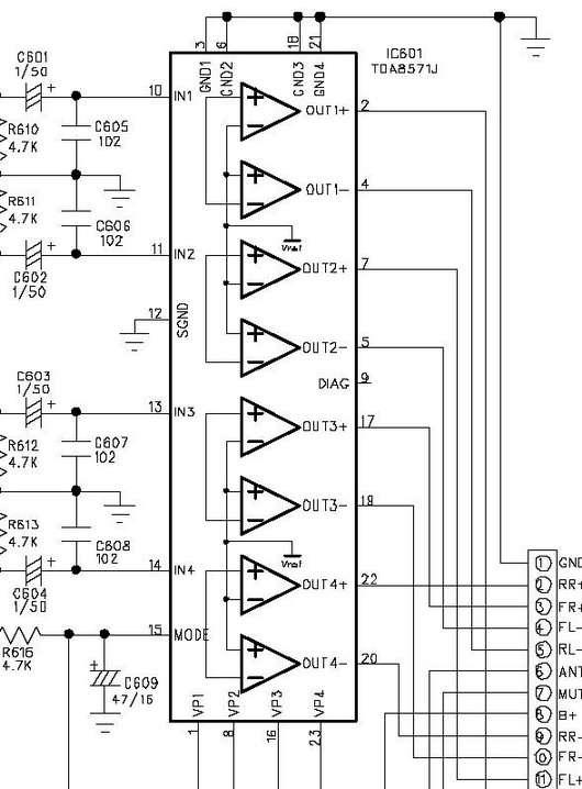 схема усилителя не tda 8571j.