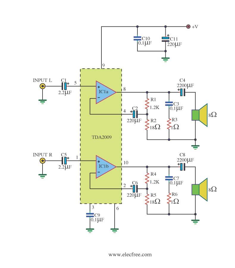 circuit-power-amp-20w-ic-