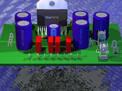 ...Tda1524 - Форум по радиоэлектронике.  Схема TDA7375 для усилителя.