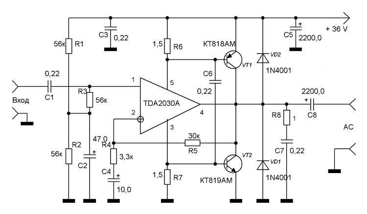 Диоды нужно ставить импульсные, их 5 штук, заменил на fr как сделать корпус и усилитель для дома на транзисторах.