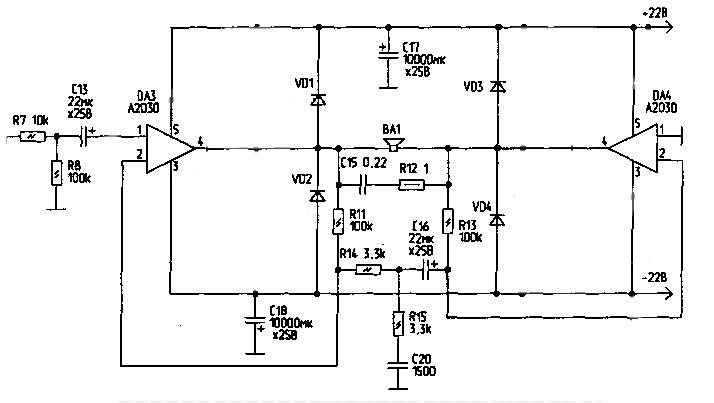 Re: мостовая схема включения TDA2050.