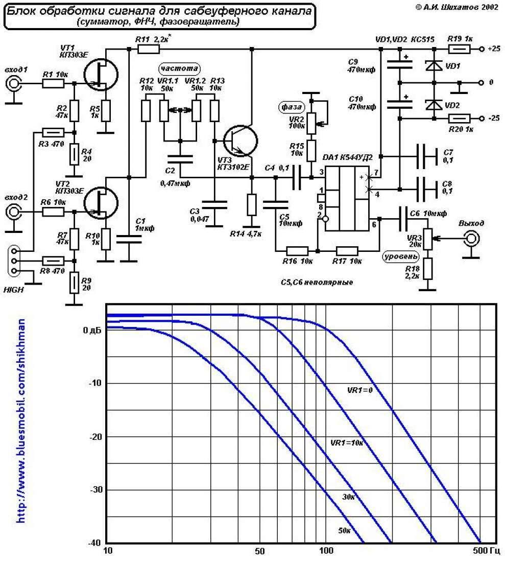 Схема фильтра на к157уд2
