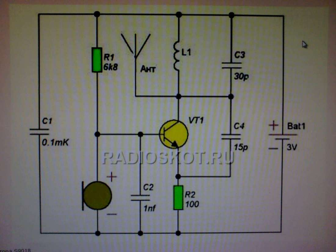 приемник для радиожучка схема собираем радиожук