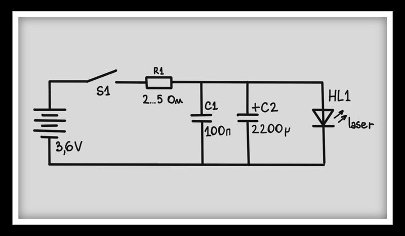 Собирал лазер по схеме. пока фокусировал линзу он горел хорошо, я определил на каком расстоянии нужно установить...