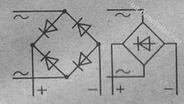 Технический форум - Показать сообщение отдельно - Обозначение диодного моста в схеме.