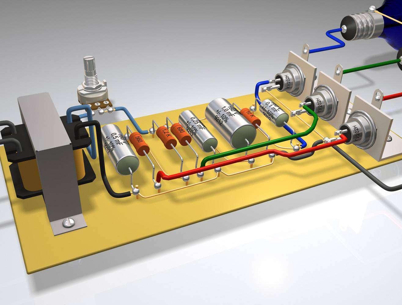 Простые схемы для электроникой