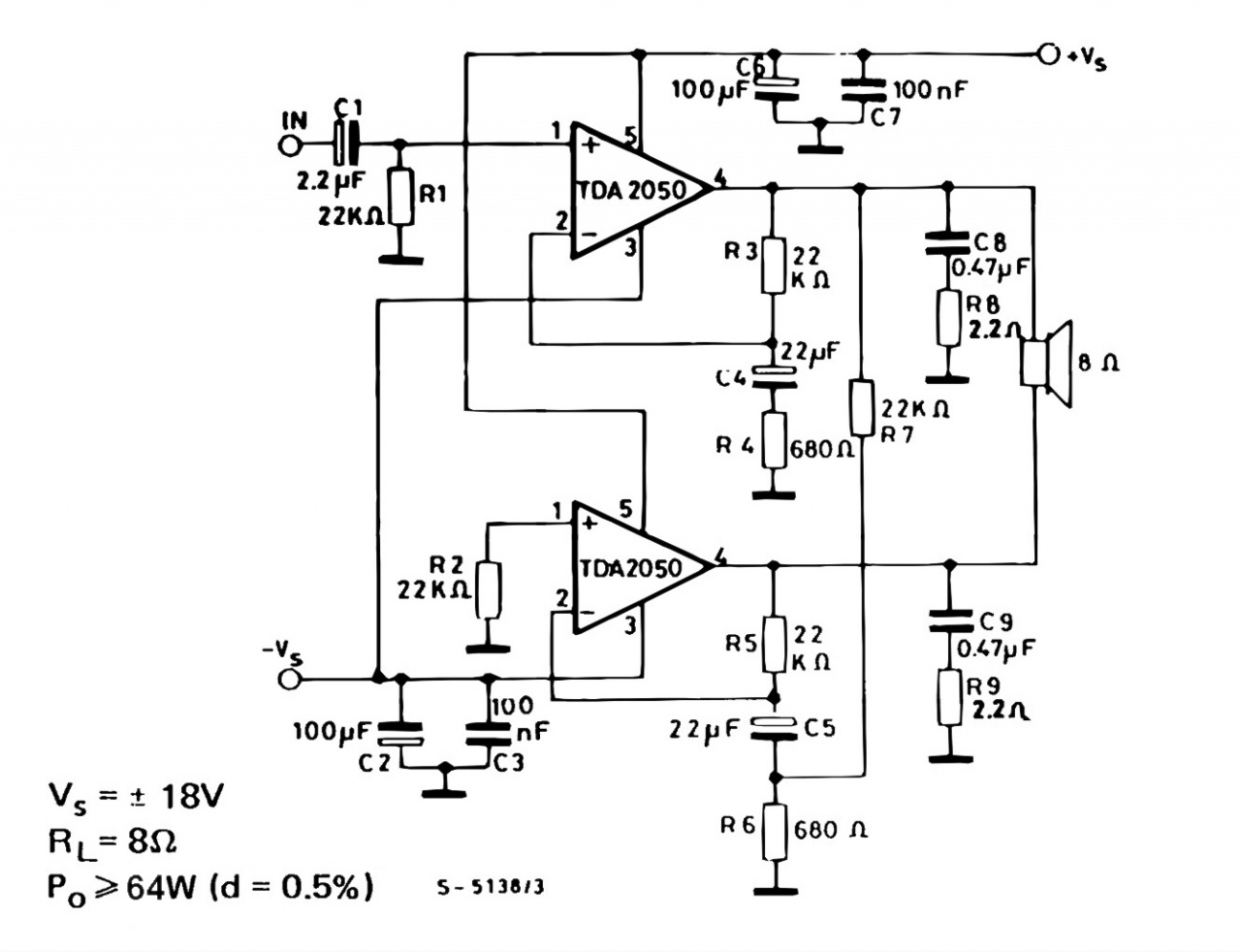 Tda2050 Amplifier Circuit Diagrams Daily Update Wiring Diagram Electronics Circuits Pdf 2 X 32 Watts Stereo Electronic And Bridge
