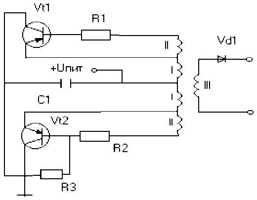 Предлагаю Вашему вниманию схему зарядки конденсаторов, взятую из журнала...