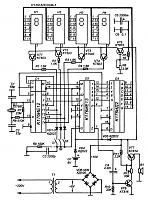 Цифровое табло состоит из четырех одноразрядных семисегментных светодиодных индикаторов AЛC324B-1, с.
