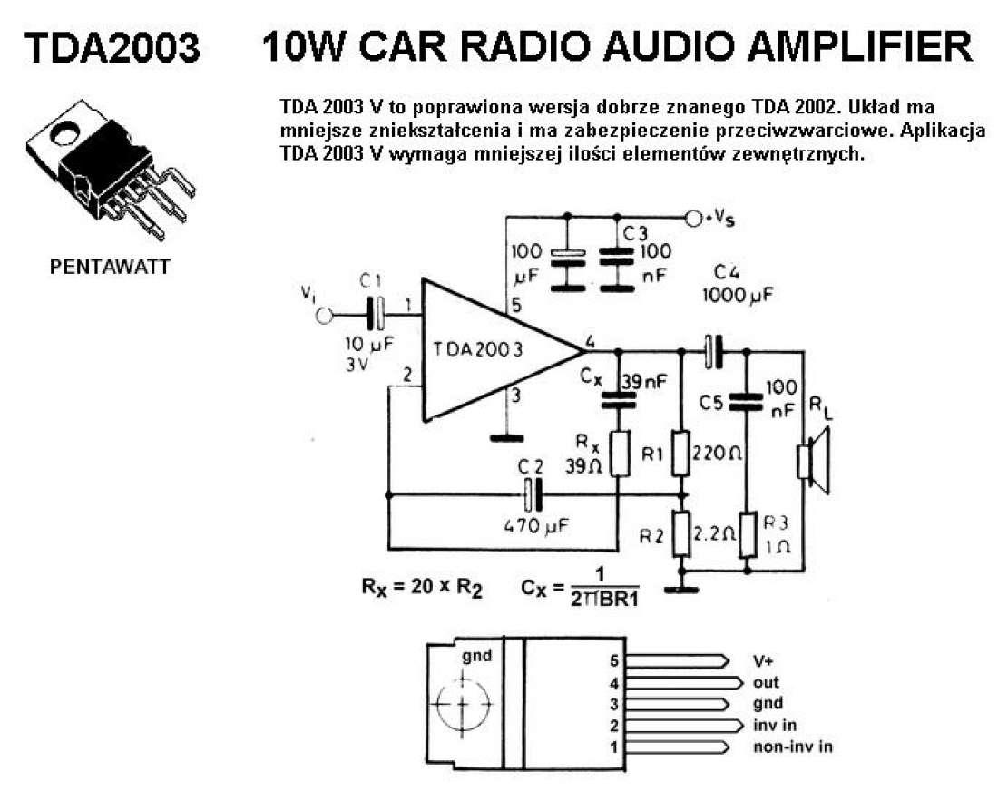 audio schematics amps tda2003 - Лучшие схемы и описания для всех.