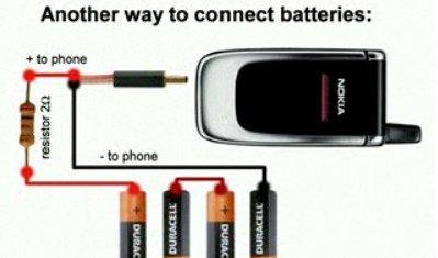 Как сделать зарядка телефона от пальчиковых батареек