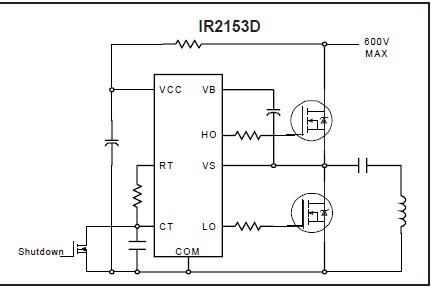 IR2153 Драйвер полумоста,