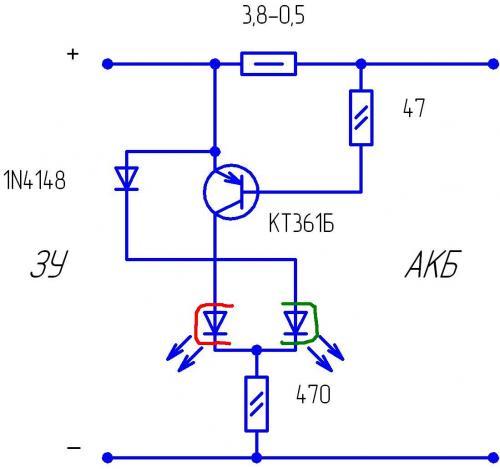 Индикатор заряда аккумулятора своими руками