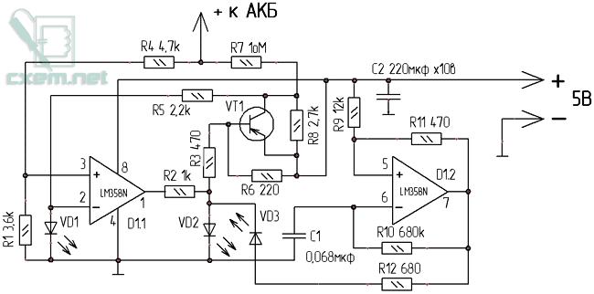 Схема зарядки аккумуляторов