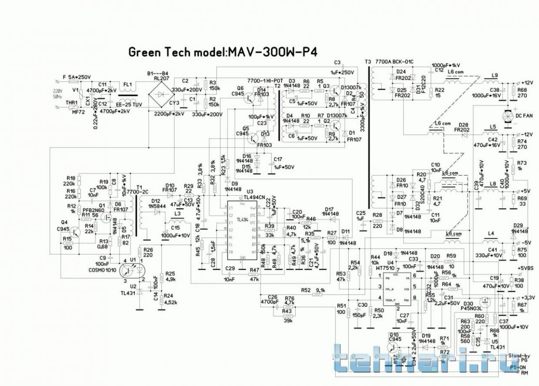 Az7500bp-e1 схема включения