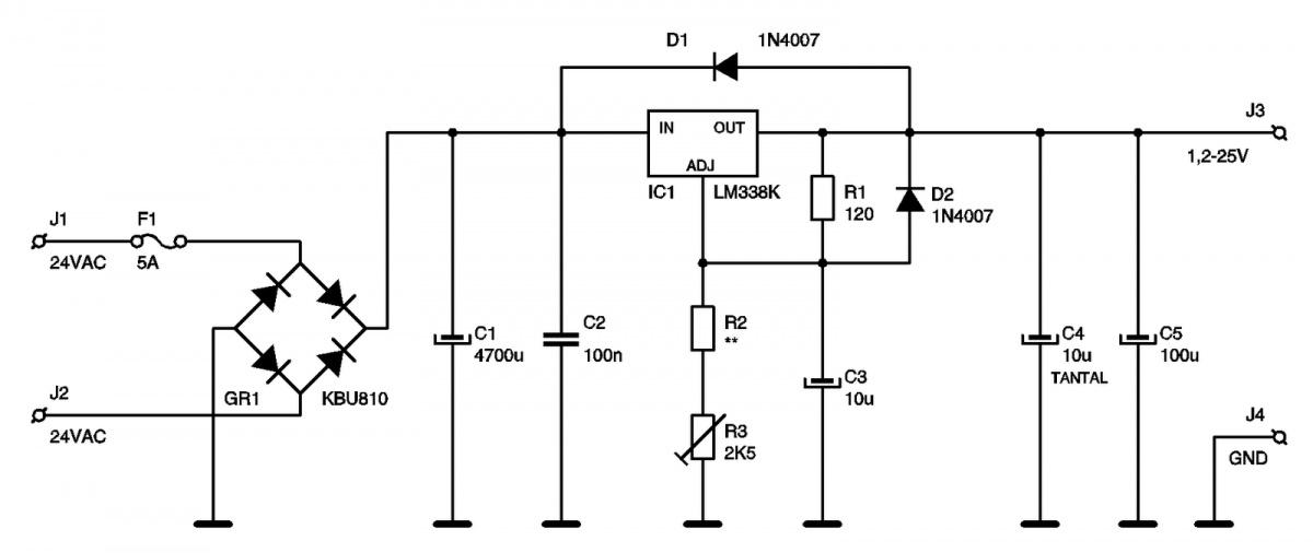 lm338t схема включения