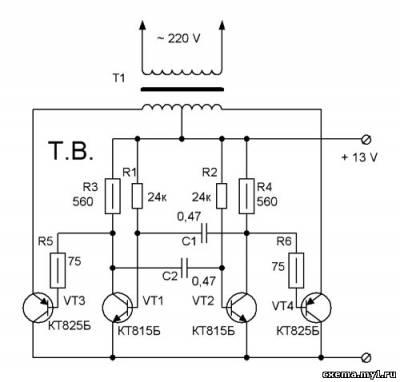 Мультивибратора. схема