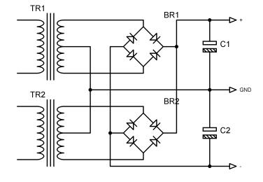 2 трансформатора схема