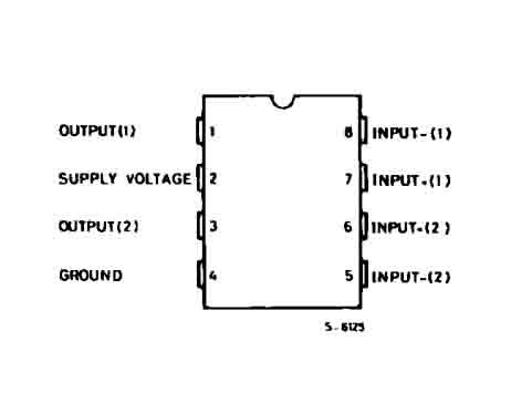 схема УНЧ микросхемы TDA2822 - База схем.