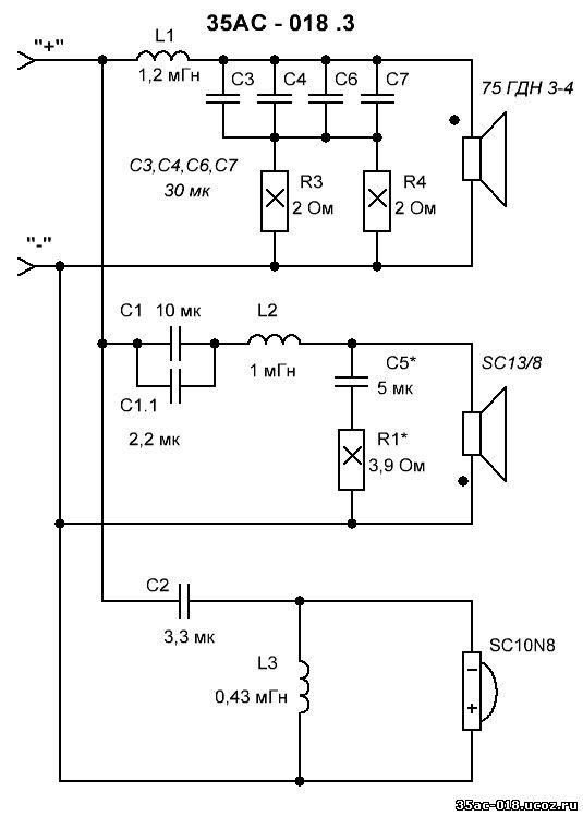 3. Фильтры, точнее детали для них (распаял): дроссели, кондюки, резисторы под вышеуказанные динамики - 3000р. за пару...