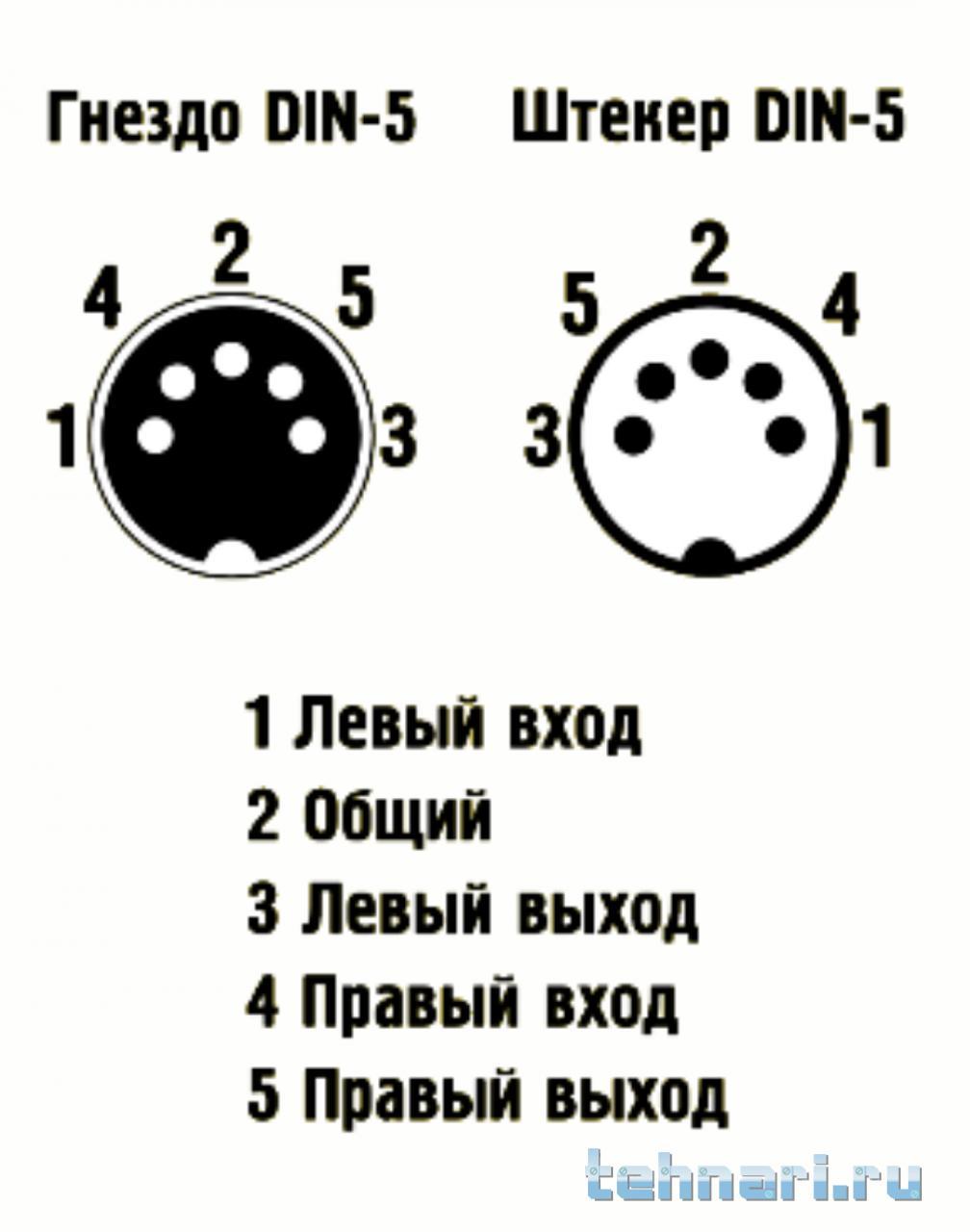 Схема соединения штекера с наушниками