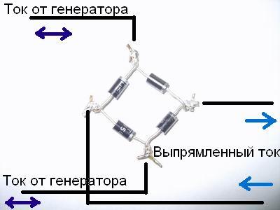 Вот диодный мост а какой стабилизатор