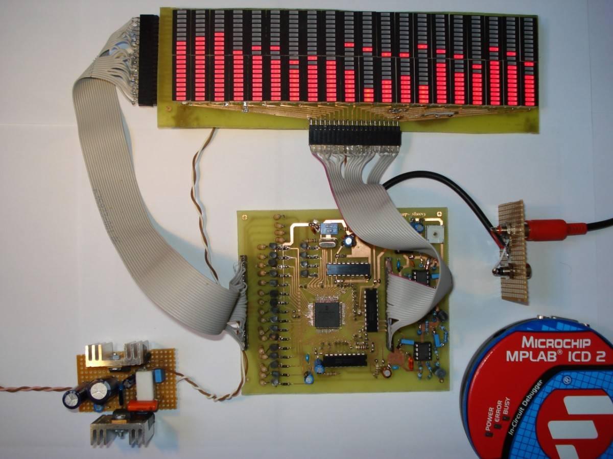 Аудио анализатор спектра схема 17 фотография