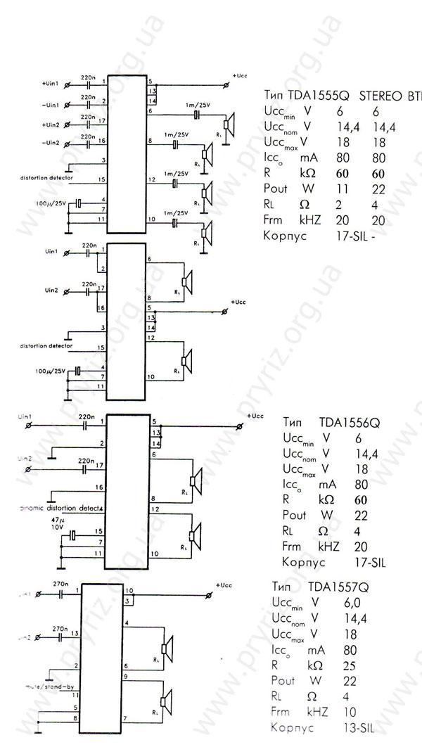 Микросхемы tda1555q tda1556q tda1557q