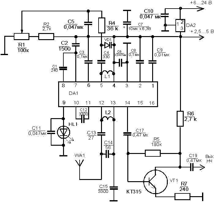 УКВ тюнер КЕ101 предназначен для приема радиостанций ЧМ или FM диапазона.  Имеет АПЧ, отключаемую БШН...