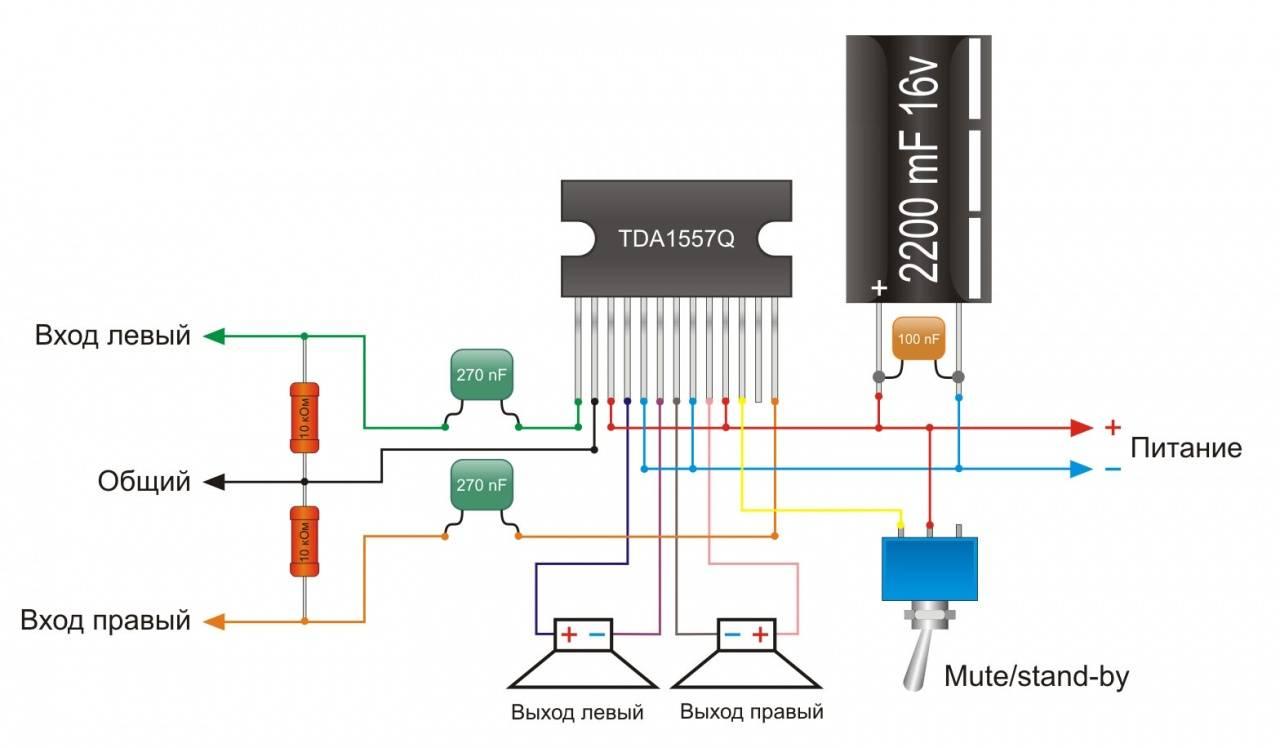 усилитель tda1557q схема - Проверенные схемы.