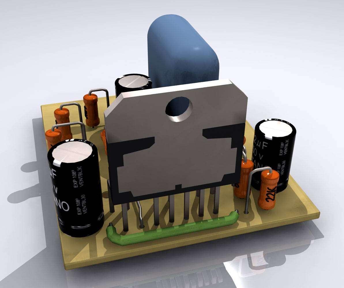 Блок питания представляет собой понижающий трансформатор с двумя обмотками напряжением 25 вольт и силой тока 5 ампер.