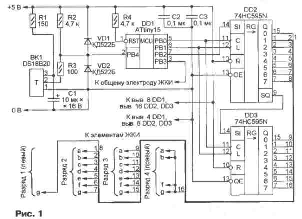 Схема термометра изображена на