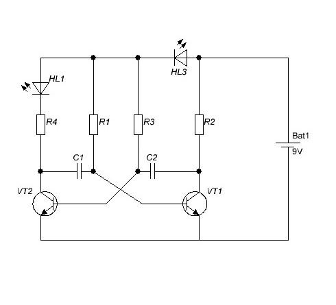 мультивибратор схема - Практическая схемотехника.
