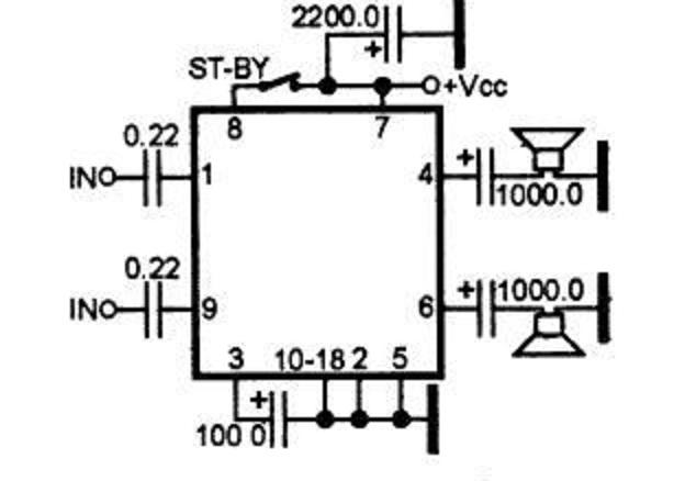 Микросхема tda 1517: http://nintfif.appspot.com/mikroshema.html