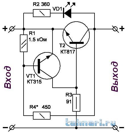 Схема регулятора напряжения на одном транзисторе фото 349