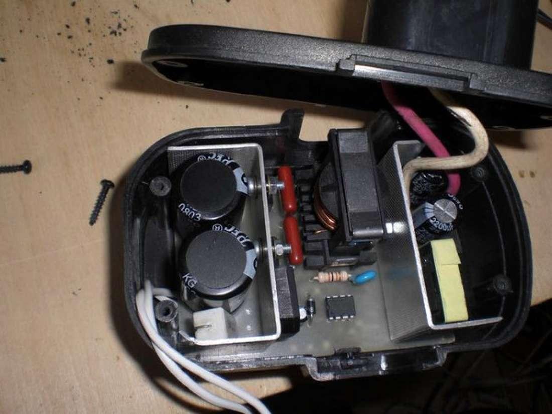 ...отдельно - Переделка шуруповерта с аккумуляторного на сетевое питание.