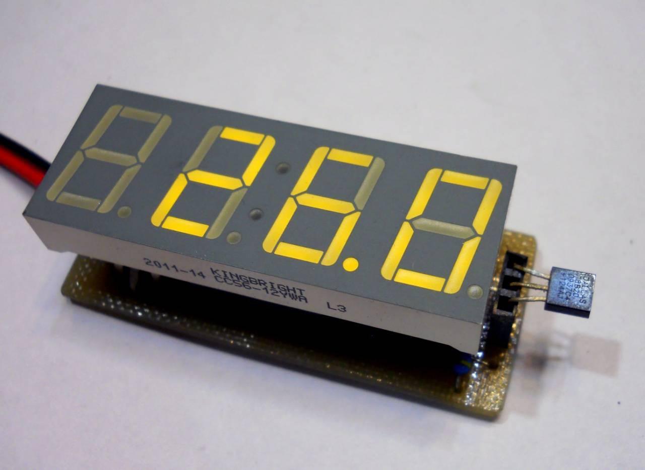 Простой цифровой термометр своими руками / Geektimes 24