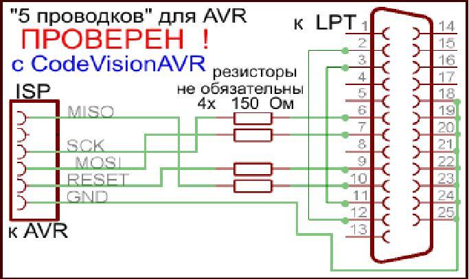 Схема Программатора Avr910