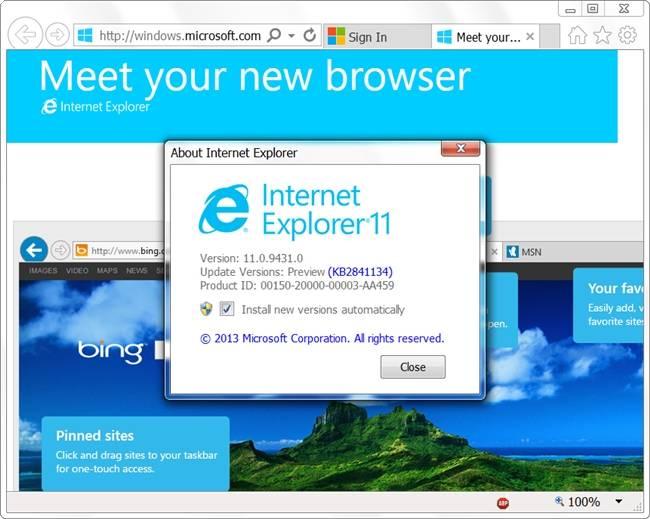 internet explorer 11 0