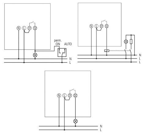Схема подключения: инфракрасный датчик движения Luxa 101-180о (Theben) .