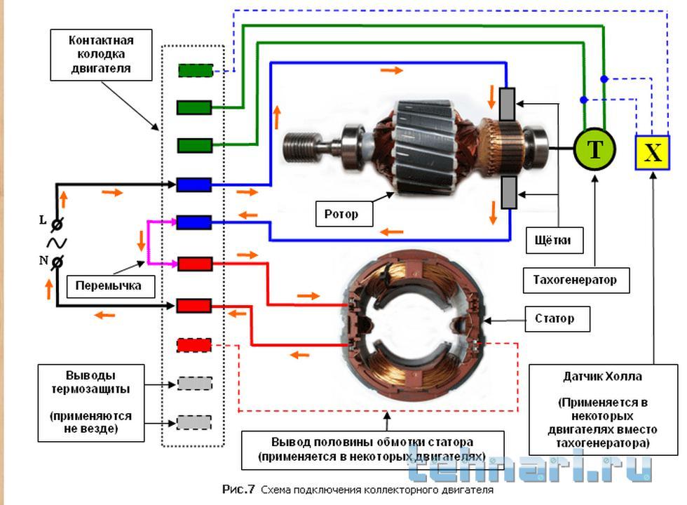 схема регулятора оборотов кухонного комбайна Kenwood