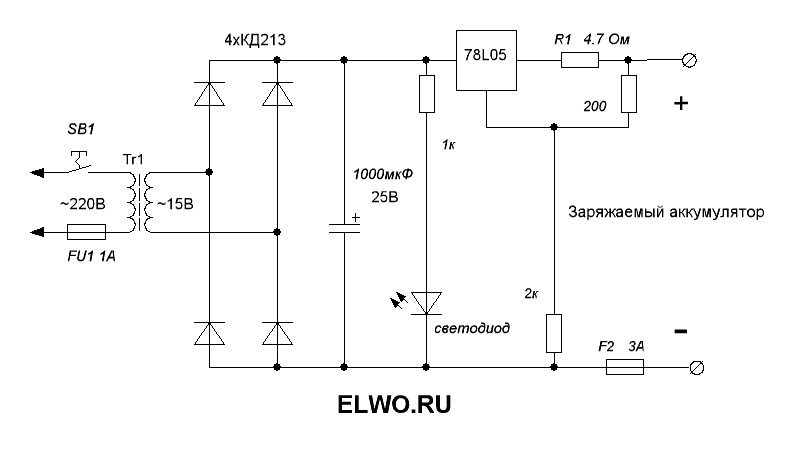 25 ноя 2011 Схема зарядного устройства для аккумуляторных батарей...