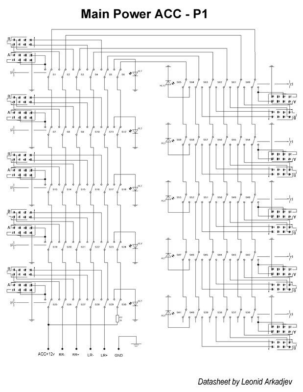 Схема стенда магнитол
